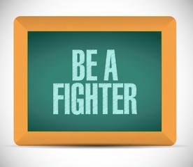 be a fighter message illustration design