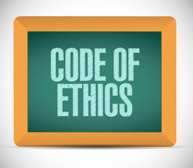 code of ethics message illustration design
