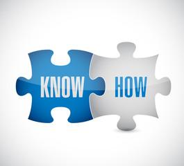know how puzzle pieces illustration design