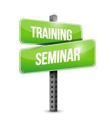 training seminar street sign illustration design