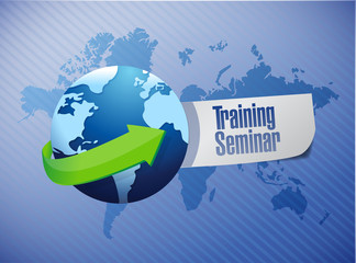 training seminar sign illustration design