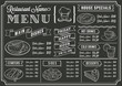 Chalkboard Restaurant Menu Template - 70669062