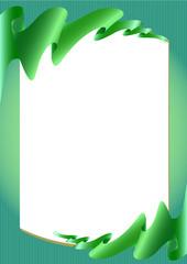Two green silk premium ribbon