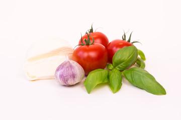 mozzarella, knoblauch und tomaten
