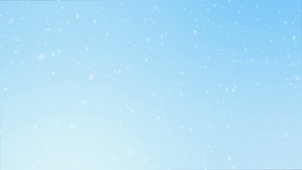 snowfall on blue background
