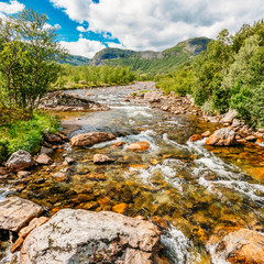 Norway Nature Cold Water Mountain River