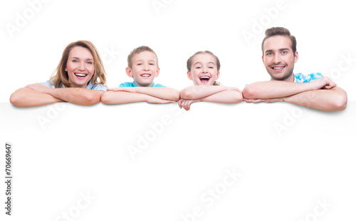 Family with a banner - 70669647