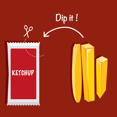 Ketchup and french fries