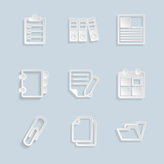Paper Document Office Icons