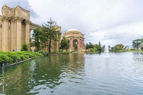 Leinwanddruck Bild Palace of Fine Arts, San Francisco