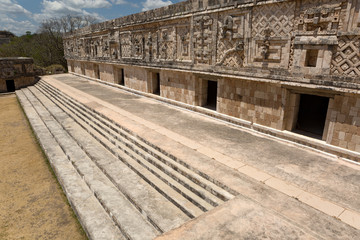 Uxmal,nunnery quadrangle, the west building