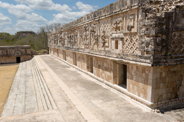 architectural details of the nunnery building  in Uxmal