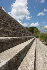 stairs leading to the top og Mayan pyramid