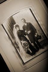 historisches Hochzeits-Foto, schwarz weiß, retro, vintage,