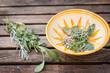 préparation de plantes aromatiques