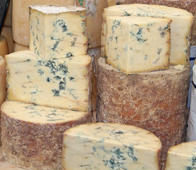 A Display of a Classic Blue Vein Cheese.
