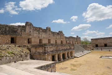 the nunnery building in Uxmal