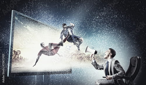canvas print picture Football fan