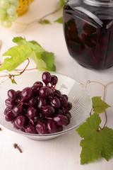 Pickled red grapes