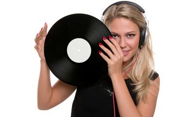 Junge Frau als DJ, DJane