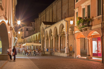 Padua - The Church Santa Maria dei Servi and Via Roma