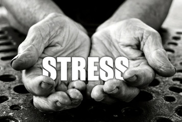 Stress concept in the old female hands