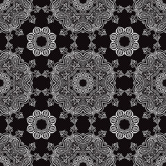 Lace. Hand drawn seamless pattern.