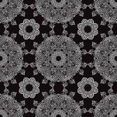Lace. Hand drawn seamless pattern.