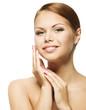 Woman Beauty Face, Clean Fresh Skin Care, Beautiful Young Girl