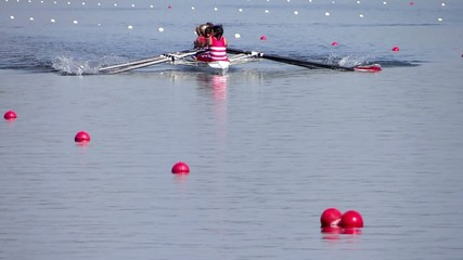 rowing race slow motion