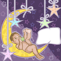 Baby greeting card.