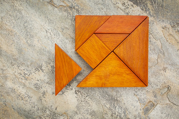 misfit concept with tangram