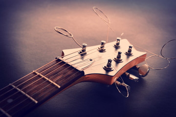 Electric guitar, close up