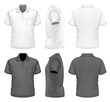 Men's polo-shirt design template - 70675092