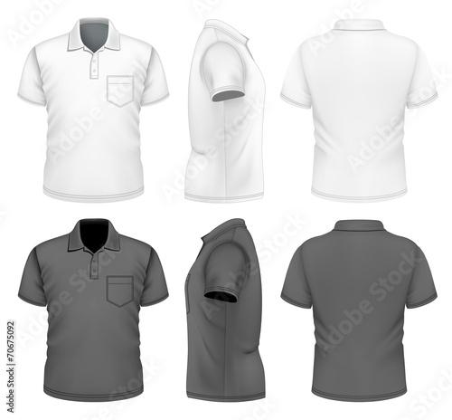 Men's polo-shirt design template - 70675092