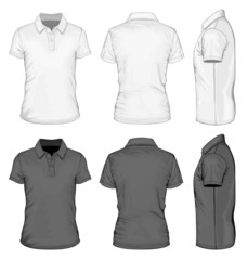Men's short sleeve polo-shirt design templates.