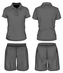 Men's polo-shirt and sport shorts
