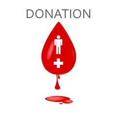 blood donation symbol vector illustration