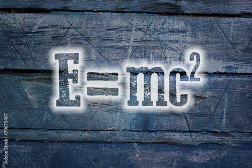 poster of Albert Einsteins Physical Formula Concept