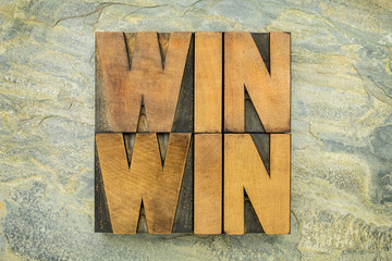 win-win in wood type