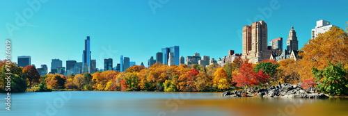 canvas print picture Central Park Autumn