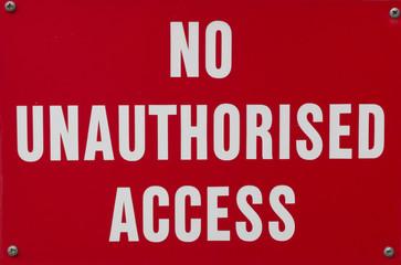 No unauthorised access