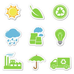 Vector ecology stickers
