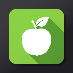 Apple flat icon with long shadow