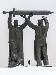 "Monument ""Rear To Front"" in Magnitogorsk, Russia"
