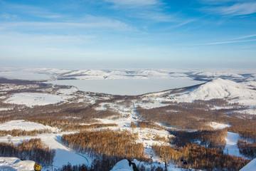 Mountain ski center Metallurg-Magnitogorsk, Russia
