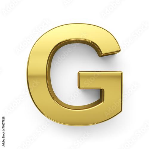 """""""3d render of golden alphabet letter simbol - G"""" Immagini ..."""
