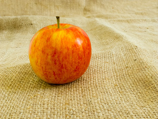 Apple on sackcloth