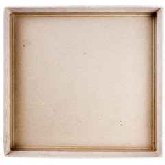 Top view of carton box