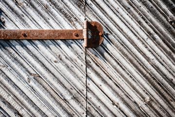 Iron hinge on door